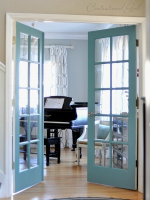 diy-painted French door