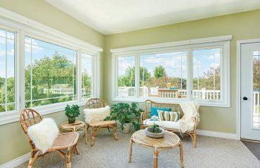Photo of Sun Room with New Windows